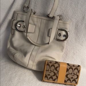 Coach white purse